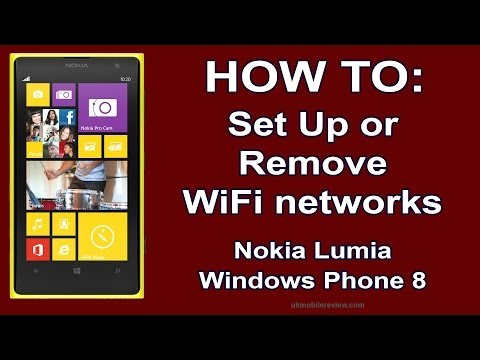 Nokia Lumia - How To Set Up & Remove Wi Fi