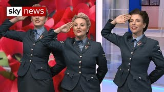 D-Day Darlings sing for Armistice Day - SKYNEWS