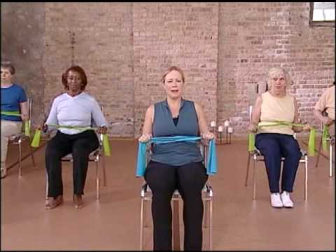 Core Strength Warm Up  Chair Exercise Video, Elderly Exercise