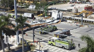 Official: Eight vehicles crushed in Miami area pedestrian bridge collapse - WASHINGTONPOST