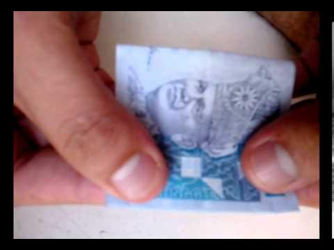 Origami duit kertas bentuk bunga (RM)