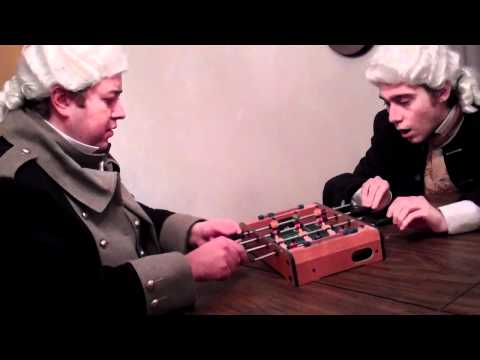 George Washington vs. James Madison in Foosball
