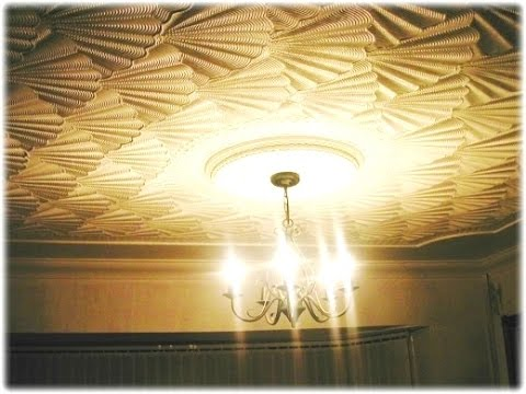 Ceiling Comb Drywall Artex Texturing! Amazing 3D Effect OysterShell Pattern how to video