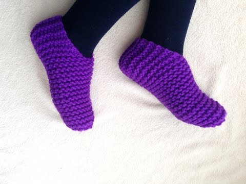 Toe-Up Slippers Tutorial [Loom Knitting]