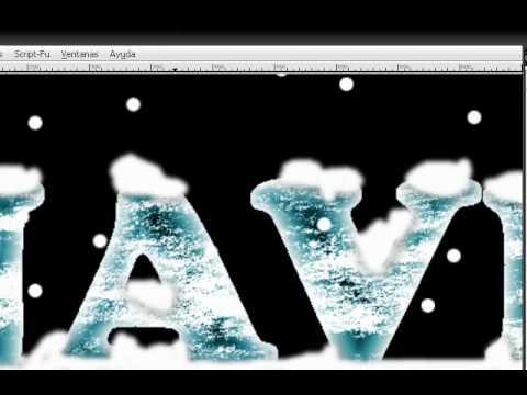 Letras de hielo en GIMP (efecto helado)
