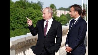 RAW: Putin meets Macron in St. Petersburg - RUSSIATODAY