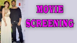 Sonakshi Sinha,Esha Gupta at the screening of Baby Movie | Baby Movie
