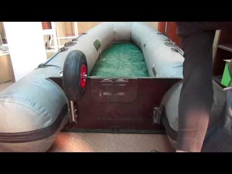 установка транцевых колес на касатку