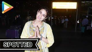 Sara Ali Khan SPOTTED at Airport, Mumbai - HUNGAMA