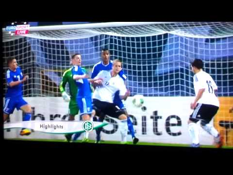Germany vs Faroe Island u21 first half highlights