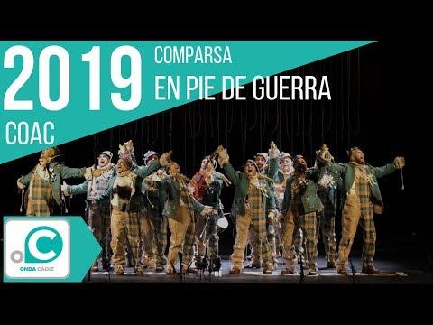 La agrupación En pie de guerra llega al COAC 2019 en la modalidad de Comparsas. Primera actuación de la agrupación para esta modalidad.