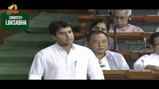 Congress Leader Jyotiraditya Scindia Raises Farmer Suicides | Full Speech | Mango News - MANGONEWS