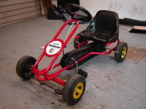 Homemade gokart  Kids Kettcar Pedal Go-Kart With 49cc Mini Moto Engine  driftkart  build