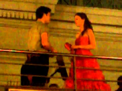 July 9, 2010 - Ed Westwick & Leighton Meester on Gossip Girl set in Paris