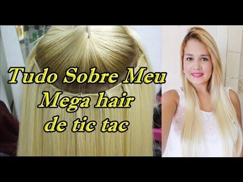 Tudo sobre meu Mega Hair de Tic Tac Loiro .