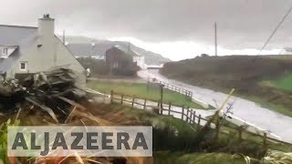 Three dead and 360,000 properties without power as Storm Ophelia hits Ireland - ALJAZEERAENGLISH