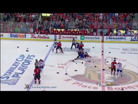 Canadiens vs Senators Line Brawl May 5, 2013