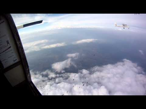 40 way Skydive Exits En Masse from Three Jump Planes