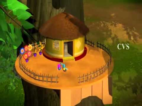 Burru Pitta Burru Pitta Turru mannadi   Birds   3D Animation Telugu Rhymes for children