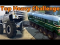 Spin Tires | TOP HEAVY CHALLENGE - VW Samba, MONSTER Chevy, and TRAIN!?