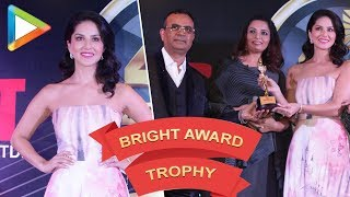 CHECK OUT: Sunny Leone Launching 4th Bright Award Trophy - HUNGAMA