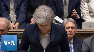 UK Prime Minister Responds After MPs Vote Down Her EU Deal - VOAVIDEO