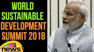 PM Modi's Speech at Inauguration of World Sustainable Development Summit 2018 | Mango News - MANGONEWS