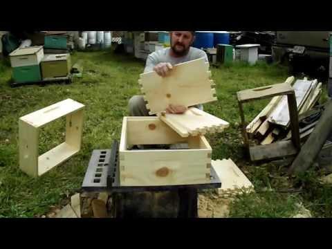 HONEY SUPER Brood Box Salvage Beehive GEORGIA BEES VIDEO John Pluta, Beekeeper Budget Bee Hive Wood