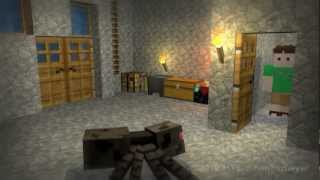 Minecraft Mini-Adv. Episode 01 - House Guest (3D Animated Series)