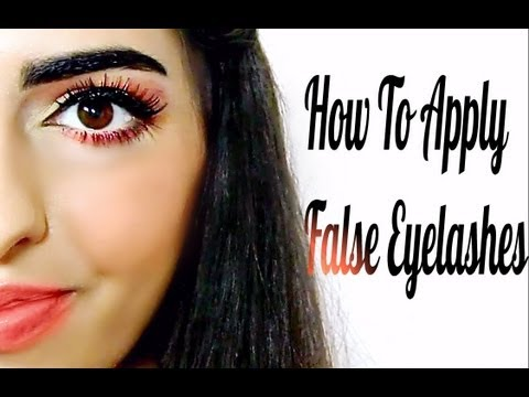 How to apply false eyelashes,(   (  