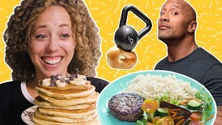 "I Ate Like Dwayne ""The Rock"" Johnson for a Day 💪 EXPERIMENTAL EATS - FOODNETWORKTV"