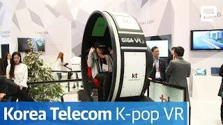 Korea Telecom K-Pop VR   Hands-On   MWC 2017 - ENGADGET