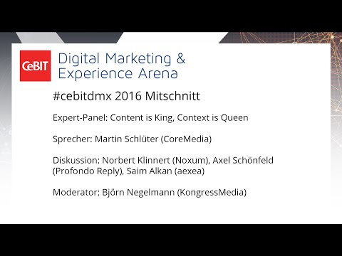 "#cebitdmx: Expert-Panel ""Content is King, Context is Queen"""