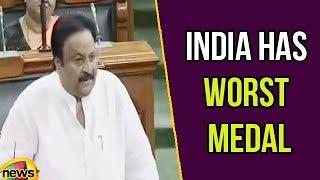 TRS MP Jithender Reddy says India has Worst Medal Tally Per Capita at Olympics | Lok Sabha 2018 - MANGONEWS