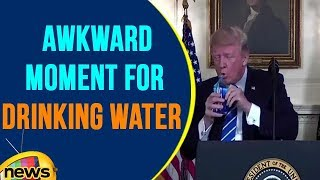 President Trump Faced Awkward Moment For Drinking Water During His Speech  | Mango News - MANGONEWS