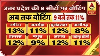 Lok Sabha Elections 2019: Here is the voting percentage till 9 am - ABPNEWSTV