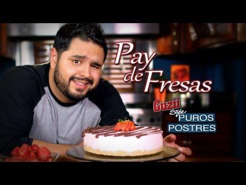 Guzii Style - Pay de Fresas con Chocolate (Sin Horno)