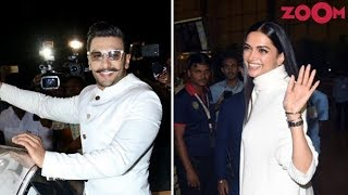 Deepika Padukone & Ranveer Singh leave for Italy with family for their Wedding - ZOOMDEKHO