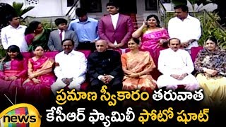KCR Family Photo Session at Raj Bhavan | KCR Oath Ceremony as Chief Minister | Mango News - MANGONEWS