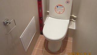 Отделка туалета пластиком. Секреты установки унитаза