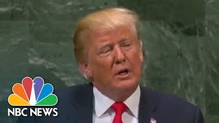 Watch Live:  Trump speaks at United Nations General Assembly - NBCNEWS