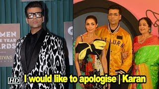 I would like to apologise | Karan Johar on hurting Northeast sentiments - BOLLYWOODCOUNTRY