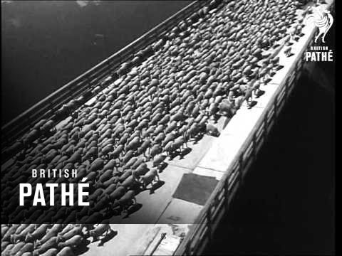 Sheep Crossing Grand Coulee Dam AKA Herd Of Sheep On Grand Coulee Dam (1948)