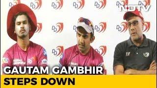 IPL 2018: Gautam Gambhir Steps Down As Delhi Daredevils Captain - NDTV