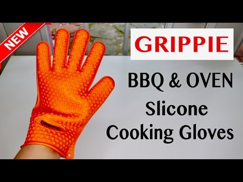 😍  GRIPPIE   BBQ  & Oven Slicone  Cooking Gloves - Review   ✅
