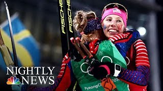 Trailblazing Cross-Country Skier Kikkan Randall Wins Historic Gold | NBC Nightly News - NBCNEWS