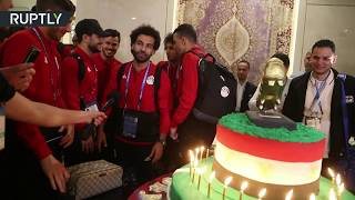 Happy Birthday! Mo Salah gets 100-kg cake from Chechen fans - RUSSIATODAY