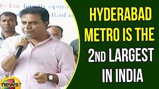 KTR Says Hyderabad Metro is the second largest in India after New Delhi | KTR Speech |Mango News - MANGONEWS