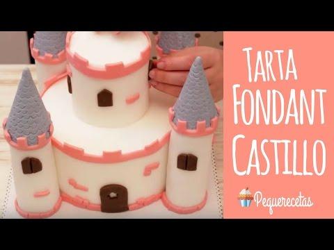 Tarta fondant de castillo