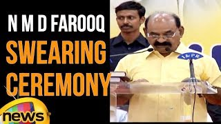 NMD Farooq Takes Oath As AP Minister | AP New Ministers Swearing Ceremony | Mango News - MANGONEWS
